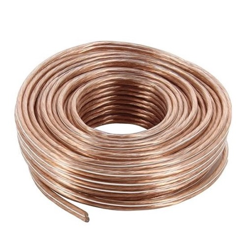 Channel Master 3160 18 GA Speaker Wire 40' FT 2 Conductor Copper Speaker Cable Connection CM-3160 Audio Signal Stereo Receiver Component Wire Hook-Up Extension, Clear, Part # CM3160
