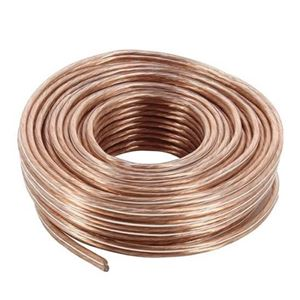 Eagle 40 ft 18 AWG GA Speaker Cable 2 Conductor Flexible Pure Copper Polarized Wire Stranded