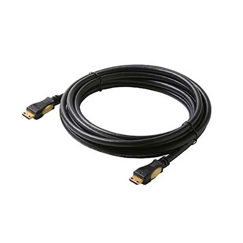 Steren 516-410BK 10' FT HDMI Cable Type C Male to Type C 1.3A Mini 19 Pin Gold Video High Speed 1.3 1080P Category 2 Black Digital HDTV Gold Series Certified Approved Multi-Media Interface Interconnect with Gold Connectors, Part # 516410-BK