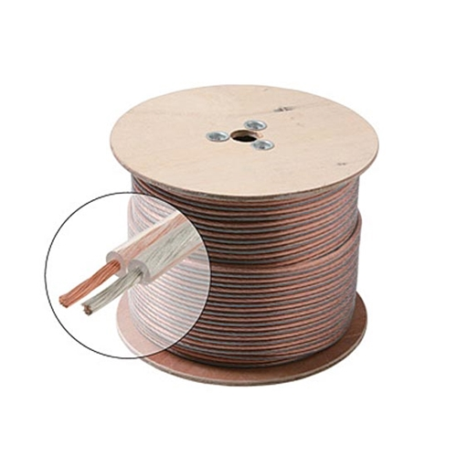 Eagle 500' FT 14 AWG GA Speaker Cable 2 Wire Pure Copper Clear Jacket Pro Zip 100% Copper Pro Grade Pure Copper Speaker Cable HI-FI Digital Audio Home Theater, Cable Spool