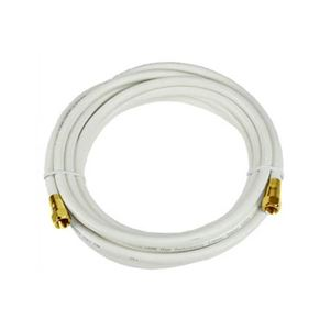 Eagle 6 FT RG6 Coaxial Cable White with Gold F-Connector Each End 75 Ohm 3 GHz RG-6 RG6 Coax Cable Digital Satellite Dish TV Signal Distribution Line Video Jumper