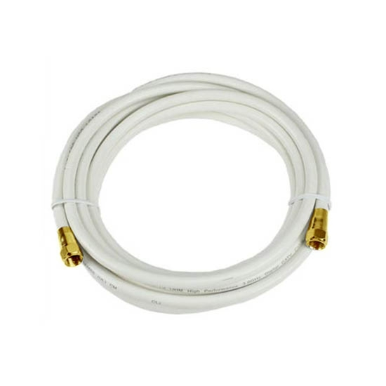 Eagle 25 FT RG6 Coaxial Cable White with Gold F-Connector Each End 75 Ohm 3 GHz RG-6 RG6 Coax Cable Digital Satellite Dish TV Signal Distribution Line Video Jumper