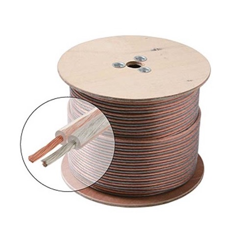 Steren 255-518 100' FT 18 AWG Speaker Cable 2-Conductor Wire Clear Jacket Spool Pure Copper Oxygen Free 18 Ga 18/2 In-Wall Super Flex Digital Audio Signal Home Theater Sound, UL Listed, Part # 255518