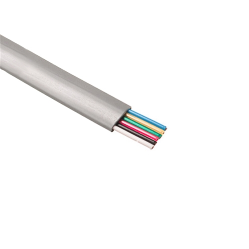 Steren 300-860SL Telephone Cable 6 Conductor Flat Modular  Stranded Silver Satin 28 AWG Copper 500' FT Bulk Cable Roll RJ12 Gray Telephone CAT3 Wire Silver Satin 6C RJ-12 Phone Wire