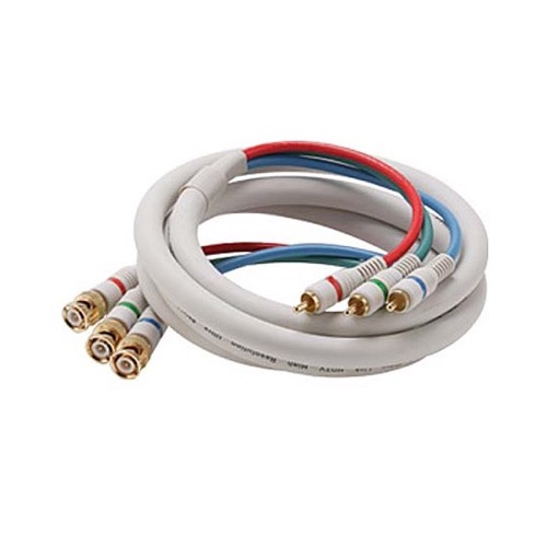 Steren 254-725IV Component Video Cable 3-BNC to 3-RCA 25' FT Python Ivory HDTV RGB Gold Plate Y/Pr/Pb Pro Grade 24 K Gold Plate Color Coded Double High Density Shield RCA - BNC Digital Component Cable Signal Hook-Up Jumper, Part # 254725-IV