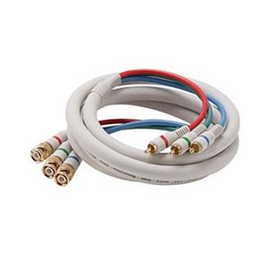 Eagle 25' FT 3 BNC to 3 RCA Male Python Cable HDTV Component Video Cable Ivory RGB Gold Plate Y/Pr/Pb Pro Grade 24 K Gold Plate Color Coded Double High Density Shield RCA - BNC Digital Component Cable Signal Hook-Up Jumper