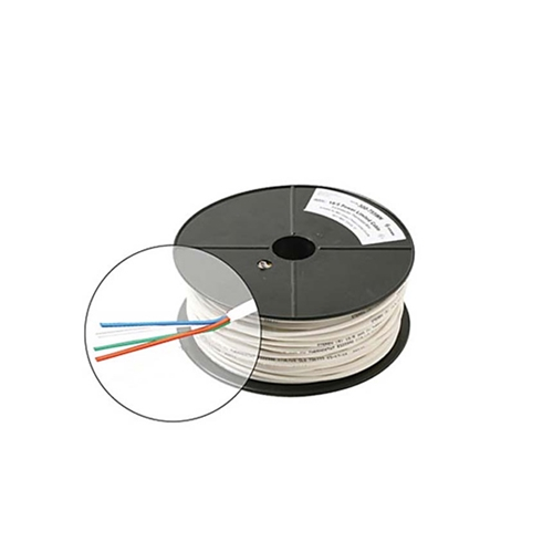 Eagle 18 AWG 4 Conductor Thermostat Cable 250' FT Reel White Jacket Solid Copper Wire Color Coded Contol UL PVC UL Color Coded Residential and Commercial 18-4 Thermostat Cable