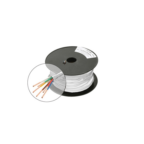 Eagle 250' FT 18 AWG GA 7 Conductor Cable Solid Copper UL Thermostat Control White Cable PVC Jacket Color Codes Residential and Commercial Thermostat 18-7