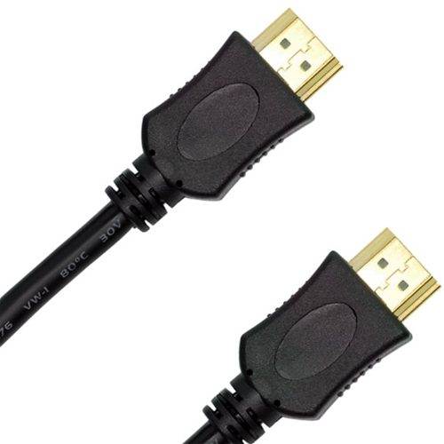 Channel Master 25' FT HDMI Cable 1.3 Approved 1080p Video Resolution Male to Male 28 AWG High Definition Multi-Media Interface Interconnect with Gold Connectors, Part # AHDMI25BK