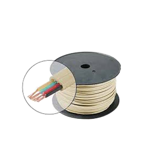 Eagle 4 Conductor Telephone Cable Ivory Bulk Modular Telephone Cable Line Cord Ivory 28 AWG Stranded Copper Flat 500' FT Phone Line Cord Bulk Standard Flat Wire Data Audio Signal Transfer Telephone Extension Hook-Up