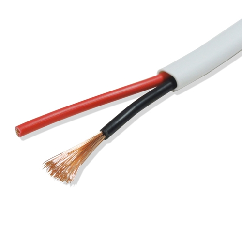 Eagle 500' FT 16 AWG ga Speaker Cable 2 Wire In-Wall 16/2 UL Pro Grade White 16 Gauge 2-Wire Digital Stranded Copper 2 Conductor High Strand Count PVC Jacket UL Listed In-Wall Flexible Signal Transfer