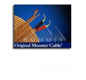 Monster Cable 12 GA Original OMC Speaker Cable Wire Kit 2 - 10' FT Cable and 8 Gold Plate Pins Connectors Clear Jacket 2 Conductor DuraFlex High Resolution Wire, Part # OMC10/10