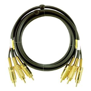 Premium Stereo RCA Composite Cable 6' FT AV Dubbing 3 Male Magnavox M61106 VCR Triple Wire Audio Video Signal with Hook-Up Gold Connectors, Studio Grade, Part # M-61106