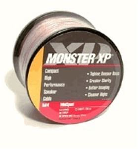 Monster Cable XP XPMS-50 Speaker Cable Bare Wire Clear 50' FT 16 AWG Ga Compact LPE Low Loss Digital Audio Signal, Clear Jacket Mini Wire, Part # XPMS50