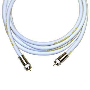 Monster Cable 50 FT RG6 Coaxial Cable SV-RG6 White With Compression F Connector Each End 75 Ohm CATV Double Shielded HDTV High Resolution, UL Listed, High Flexibility, Part # SVRG6CL-50
