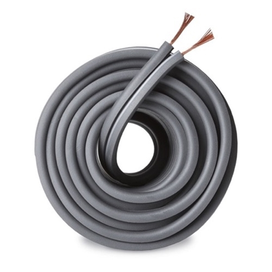 Monster Speaker Cable 16 AWG GA 2 Conductor Standard Stranded Copper Gray, Sold Per Foot
