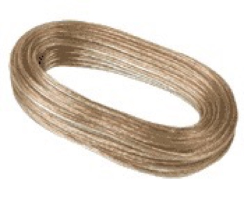 Petra 255-718 T18/PT/50 FT/P Bulk Speaker Wire 18 Gauge 50' FT Speaker Cable 2 Wire Copper Connection Audio Signal Stereo Receiver Component Wire Hook-Up Extension, Clear, Part # 255718