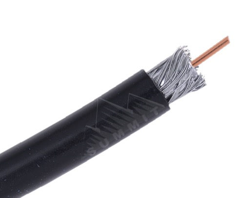 EAGLE RG6 250 FT Quad Shield Coaxial Cable Direct Burial Outdoor Black 3 GHz 18 AWG CCS, Part #CAQO25