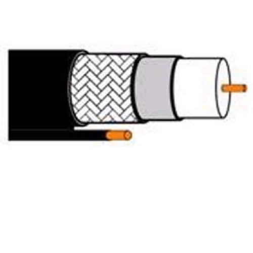 DIRECTV RG6 Coaxial Cable 100' FT 3 GHz with Messenger CCS Ground RG-6 Coax Outdoor Drop TV Antenna Aerial Digital Satellite Dish Video Signal, Steel Suspension Wire, Spool No Connectors, Part # VHD901