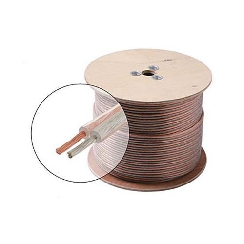 Steren 255-514 100' FT 14 AWG GA Speaker Cable Wire 2 Conductor Copper Polarized Bulk High Performance Sound Quality Oxygen Free Audio Speaker Cable Stranded Flexible, Part # 255514