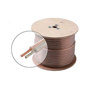 Eagle 100' FT 14 AWG GA Speaker Cable Wire 2 Conductor Copper Polarized Bulk High Performance Sound Quality Oxygen Free Audio Speaker Cable Stranded Flexible