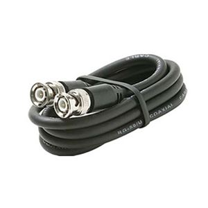 Eagle 3' FT BNC Coaxial Cable RG59 Male to Male Black Plug RG59 Nickel Plate Connector Each End BNC Male to BNC Male RG-59 Factory Installed BNC Connectors