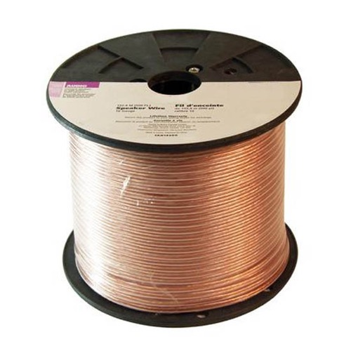 Steren 255-717 50' FT 16 Gauge Speaker Cable Wire Oxygen Free Copper 2 Conductor Digital Audio Signal Super Flex Copper In-Wall Cable Home Theater Sound, UL Listed, Part # 255717