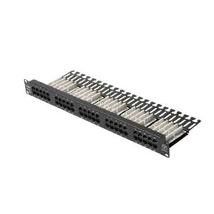 Eagle 50 Port Patch Panel CAT5E 110-IDC High Density Configuration with Punch Down Tool UL Listed 22-26 AWG Lead Contact 1 x EIA Rack Mount RJ45 350 MHz UTP Data Distribution RJ-45 Module Telephone Lan Ethernet Hub Modular CAT-5E Certified