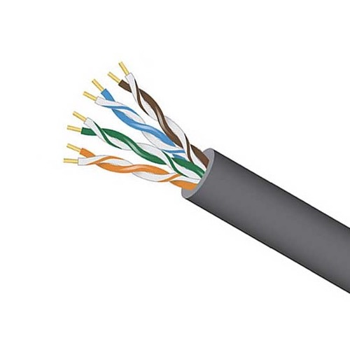 Eagle CAT5E Cable 1000 FT 24 AWG Solid Bare Copper 350 MHz Gray Box UTP CMR Riser Rated CAT-5E High Speed Ethernet Computer Data Transfer Phone / Telephone Network Line
