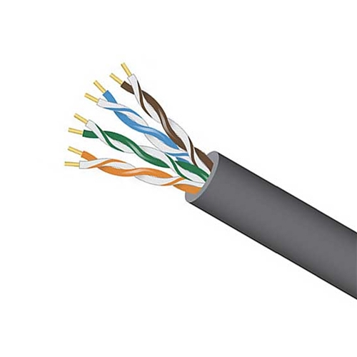Eagle 1000' FT CAT5E Plenum Cable Gray UTP CMP Ethernet 350 MHz Solid Copper 24 AWG High Speed Ethernet Data Transfer