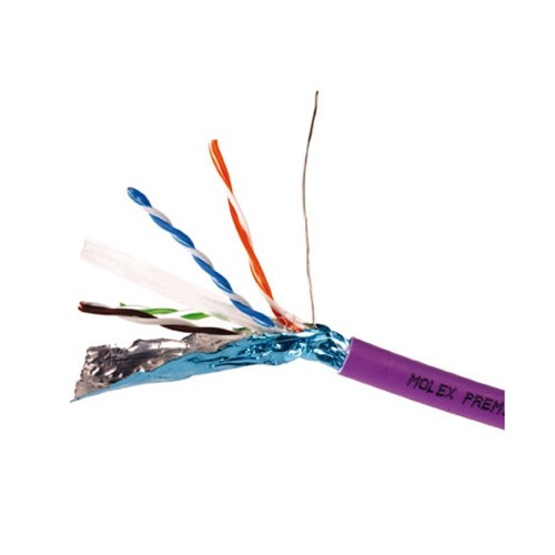Eagle 1000' FT CAT6 Cable FTP Solid Copper Foil Shielding Purple 23 AWG