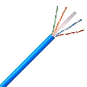 Channel Master CAT6 Cable 1000 Ft Blue 550MHz Ethernet Solid Copper UTP CMR 1000' FT Blue Ethernet 23 AWG Solid Copper Riser Certified 4 Twisted Pair UL Listed PVC Jacket, Part # ACAT6CMRBLPB