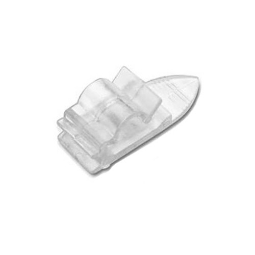 Woods Cable Clip Phone Line Cord Fastener Base Board 20 Pack Clear Floor Wall Strap Fastener Modular Cat 5e Data Audio Video Signal Base Board Flat Holder, Part # Woods 0952