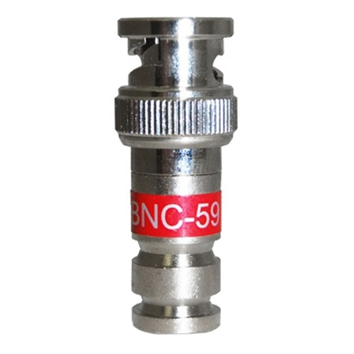 Channel Master PCT-BNC59 BNC Compression Connector Coaxial RG59, 50 Pack, Part # PCTBNC59