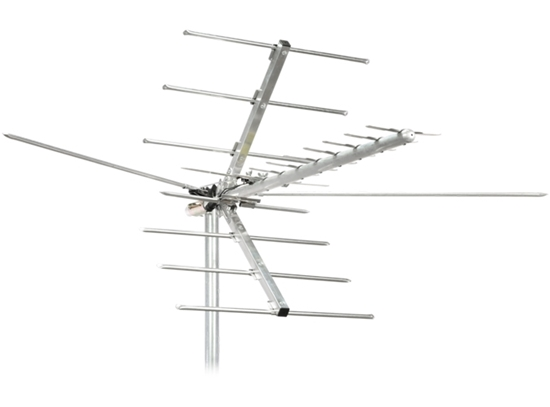 Channel Master 2016 Digital Advantage TV Antenna Outdoor Directional Yagi HDTV VHF High Band UHF 22 Element 45 Mile Mid-Range Off-Air Local Digital Signal Channel Television Aerial, RED ZONE | FREE 50 FT RG6 COAX CABLE