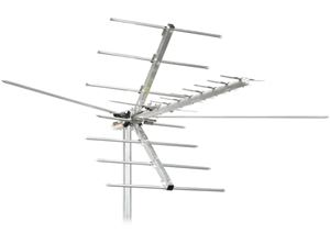 Channel Master CM-2016 HDTV VHF High Band UHF TV Outdoor Antenna 45 Mile Directional Terrestrial 22 Element Off-Air Local HD TV Digital Signal Channel Television Aerial, RED ZONE, Part # CM-2016 | FREE 50 FT RG6 COAX CABLE