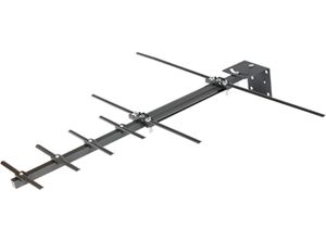 Channel Master 3010HD STEALTHtenna 50 Compact UHF VHF Outdoor Directional Yagi HDTV Antenna Rooftop Compatible Suburban Digital Signal Aerial, RED ZONE