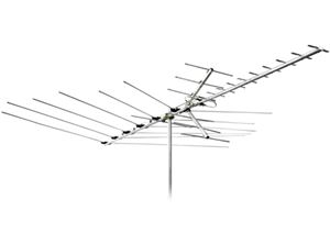 Channel Master 3018 Mid Range Outdoor Roof Top HDTV Antenna VHF / UHF / FM CM3018 30 Element Near Fringe Off-Air Local TV Signal Television Aerial, RED ZONE, Part # CM-3018 | With 50' FT Coax Cable | Open Box Item