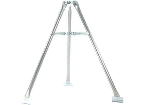 PCT Channel Master 3092 Tri-Pod Tower Antenna Base 3' FT Kit Mast Support Tripod Heavy Duty Antenna Mast Support Mount Outdoor Off-Air TV Aerial Stand-Off Kit with Pitch Pads and Lag Bolts, Part # CM3092