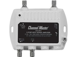 Channel Master CM 3412 2 Port Ultra Mini TV Distribution Amplifier