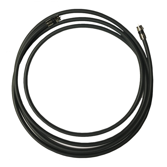 Monster Cable RG6 MV Quad Coaxial With Heavy F Compression Connector Each End 100' FT Ultra Flexible Copper Shielded In-Wall RG-6 MVQUAD-CL-100 Coax Cable 75 Ohm Bulk Roll UL Listed, Black, Part # MV-QUAD-CL