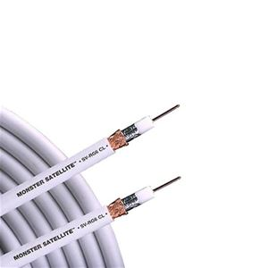 Monster Cable Quad RG6 MV Coax Ultra Flexible Copper Shielded White MVQUAD-CL RG-6 Shield In-Wall Coaxial Cable Digital 75 Ohm Bulk Roll, HDTV High Resolution, UL Listed, Sold by the Foot, Part # MV-QUAD-CL