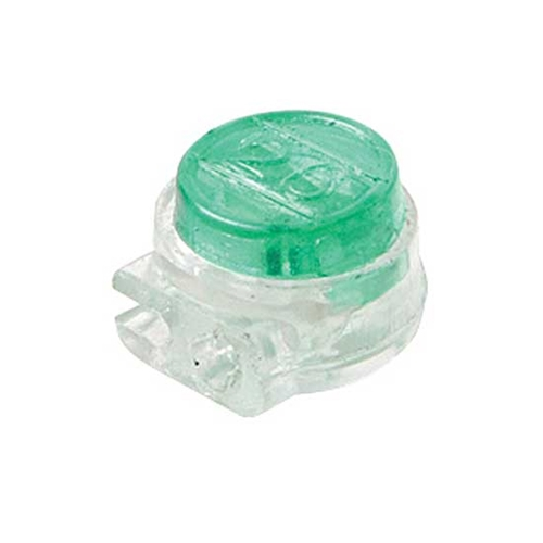 Steren 300-075-25 UG IDC Green Butt-Tap Telephone Connector Gel-Filled 19 - 26 AWG 3M Type 25 Pack Modular Telephone Wire Conductor Data Signal Cable Squeeze Crimp Audio Connectors, Part # 300075-25