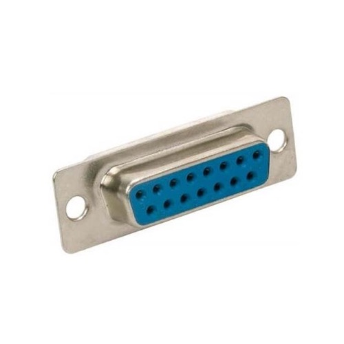 Steren 500-115 DB15 D-Sub 15 Pin RS232 Female Solder Cup Connector Replacement or Repair VGA Connector D-Subminiature Connector, Part # 500-115