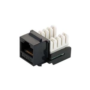 Eagle CAT5e Keystone Jack Black Insert RJ45 110 Type Modular UL IDCJack Ethernet RJ-45 Connector CAT 5e Network 8P8C 8 Wire Twisted Pair QuickPort Modular