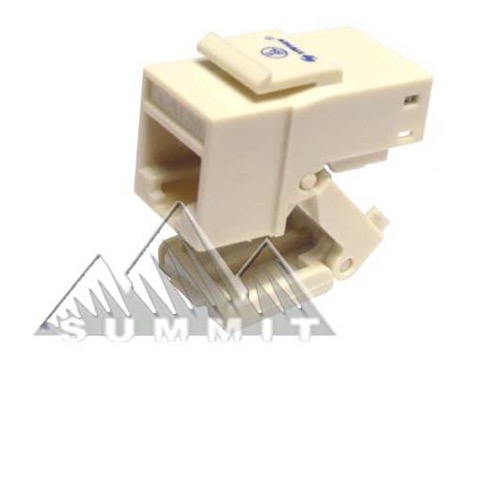 Steren 310-130AL CAT5E Keystone Jack Toolless Almond Insert One Piece RJ45 8P8C Modular Coupler Cat 5 Connector Network Cat-5e RJ-45 QuickPort 8 Wire Telephone Snap-In Insert Computer Datacom, Part # 310130-AL