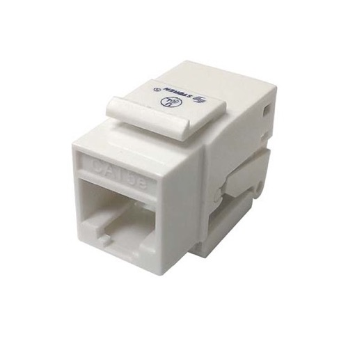 Steren 310-130WH CAT5E Keystone Jack Insert White Tooless RJ45 110 IDC Tool Less Jack Insert White 110 IDC Contacts Keystone One Piece RJ-45 8P8C Modular Cat 5e, Part # 310130-WH