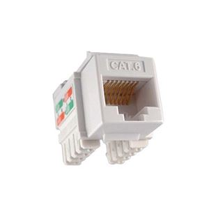 Channel Master Cat 6 Keystone Jack Insert White RJ-45 110 Punch Down 8P8C QuickPort Cat6 RJ45 8 Pin Wire Twisted Pair Modular Wall Plate Snap-In Computer Telecom, Part # AC6KJW