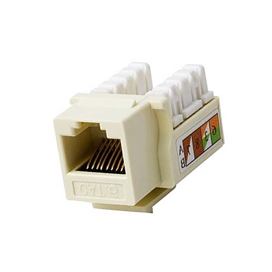 Steren 310-140IV-10 Cat 6 & Keystone RJ45 Fast Media 22-24 AWG 110 IDC Ivory Insert Connector Jack Module Network 110 Punch Down 8P8C QuickPort Cat6 RJ-45 8 Pin Wall Plate Snap-In Telecom, 10 Pack, Part # 310140-IV-10