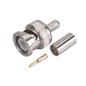 Steren 200-145-10 BNC Coaxial Crimp-On Connector RG58 10 Piece Set Male Commercial Grade Connector Hex Crimp BNC Connector